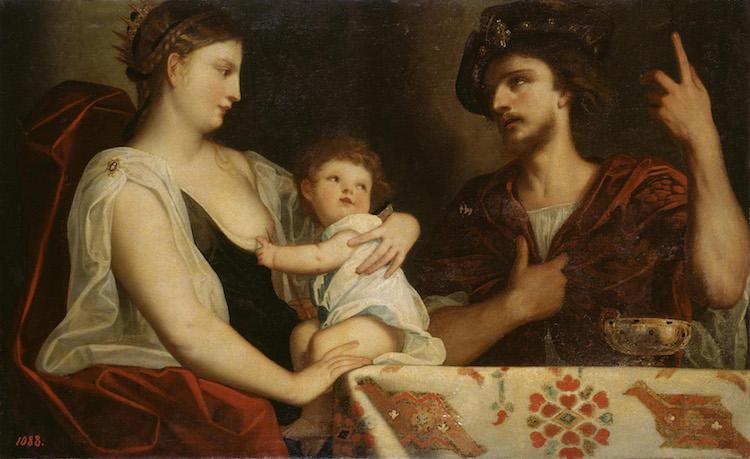 Padovanino - Eumene e Rossane