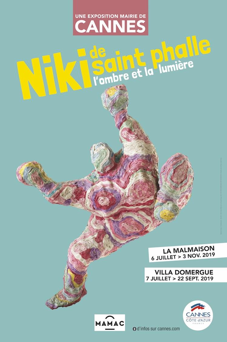Affiche expo Niki de Saint Phalle 2019 CANNES