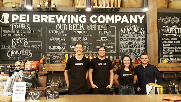 PEI Brewing Co staff