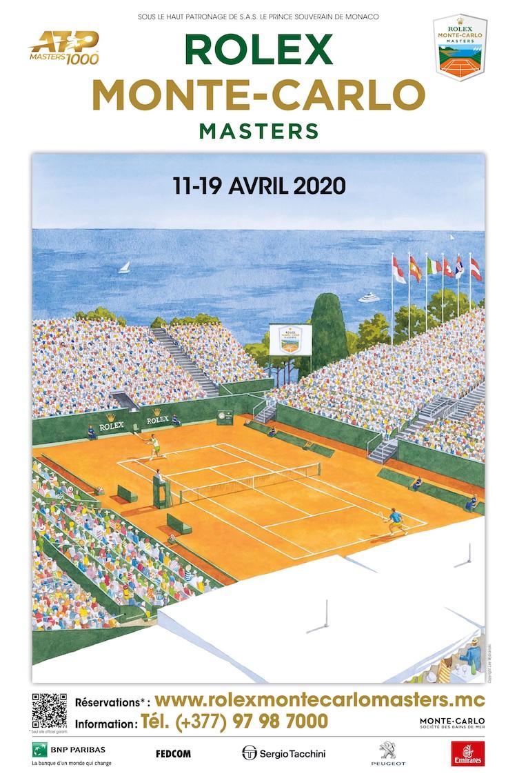 Rolex Monte-Carlo Masters 2020 poster