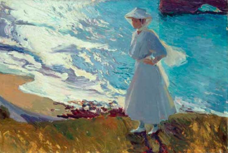joaquin Sorolla - Maria sur la plage de Biarritz