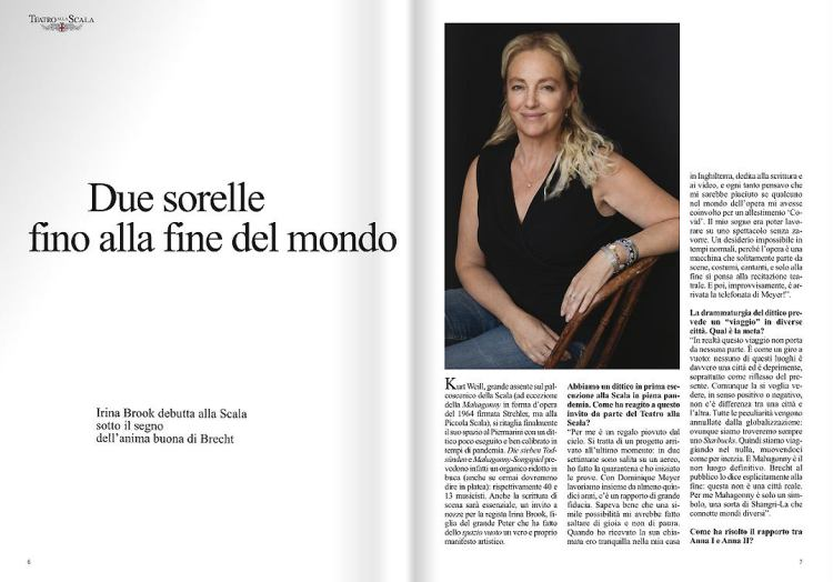 Irina Brook La Scala magazine