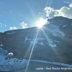 Leslie Red Rocks Amphitheater Park Colorado