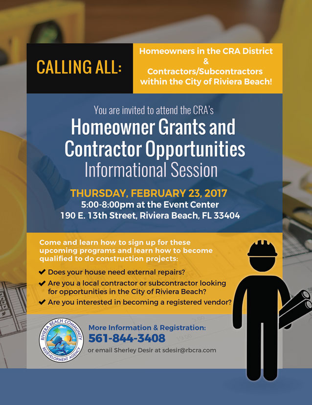 Homeowner Grants and Contractor Opportunites