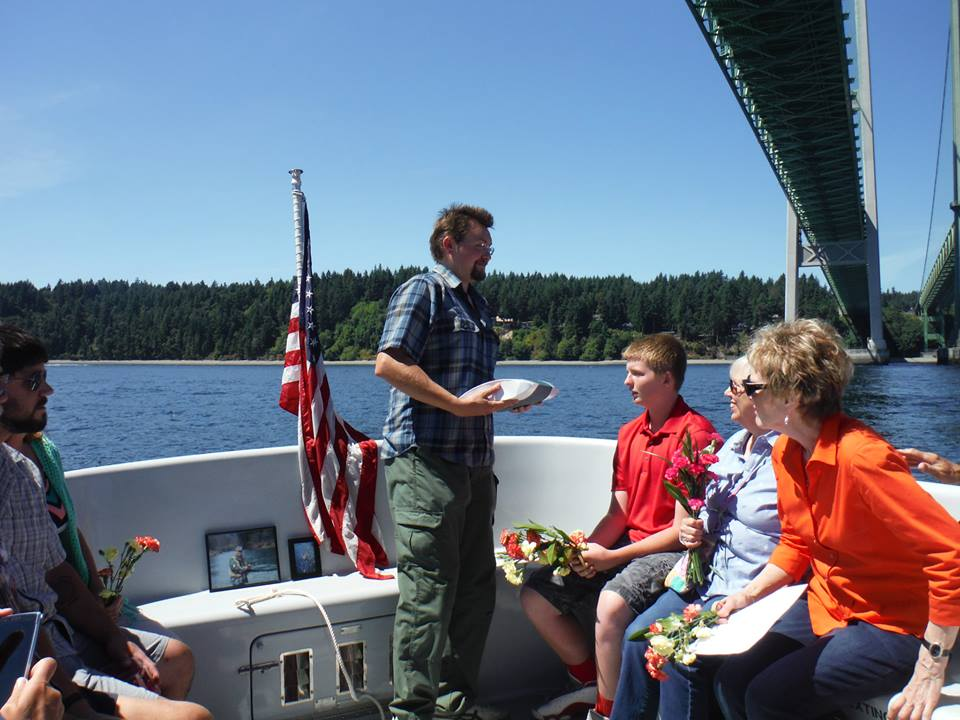 Rememberances are made with Memorials at Sea
