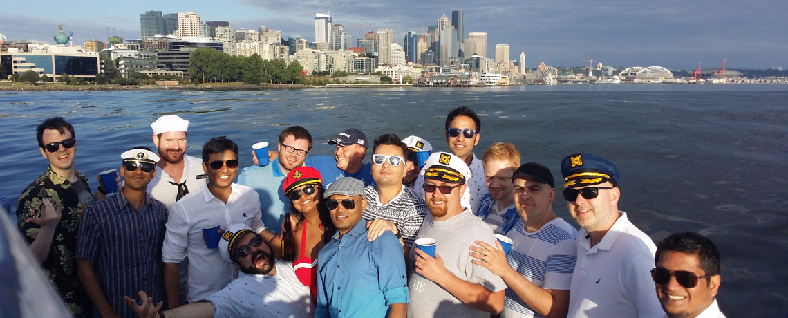 Seattle Riviera Boat Cruises 5 – people with Seattle skyline
