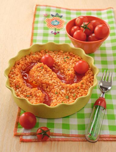 Ricette veloci per bambini risotto con le biglie ricotta e pomodoro