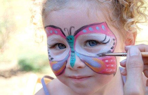 Trucco di carnevale per bambini farfallina