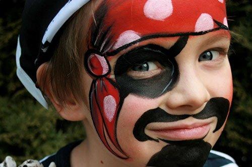 Trucco di carnevale per bambini pirata