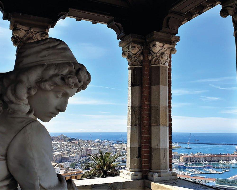 castello albertis vista mare