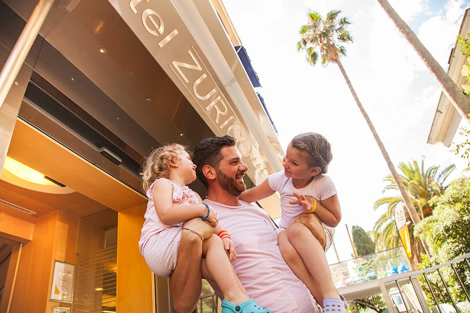 Papà con bambini hotel zurigo