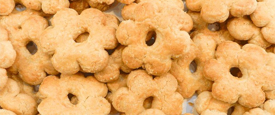 Ricetta Canestrelletti di Torriglia senza zucchero a velo appena sfornato