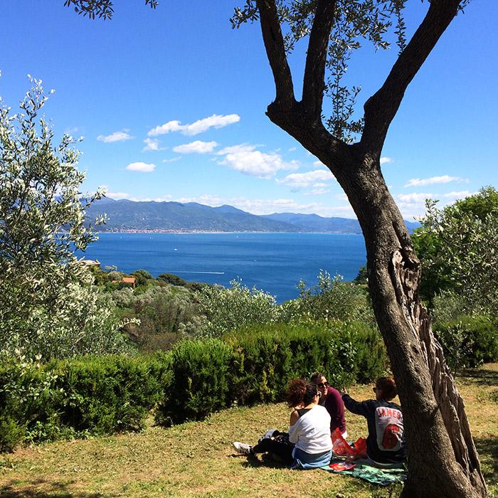 Portofino punto panoramico con vista sul mare