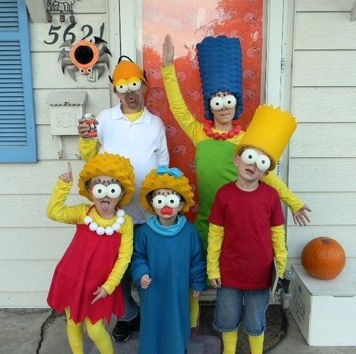 Costumi di carnevale per tutta la famiglia a tema Simpson