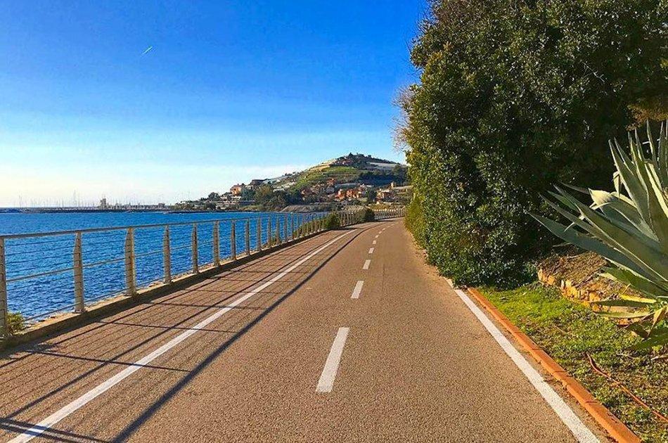 Cicabile di Sanremo tratto vista mare nel ponente ligure