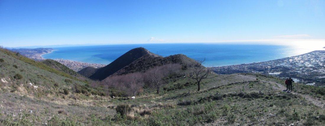 Ceriale panorama sul golfo visto dal monte