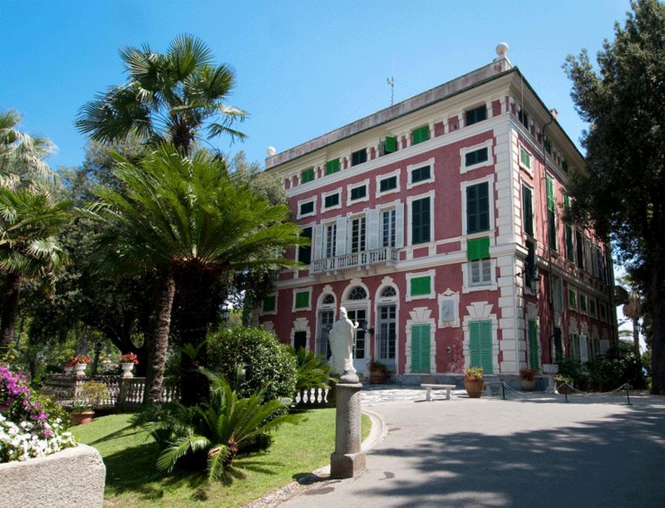Santa Margherita Ligure facciata di villa Durazzo