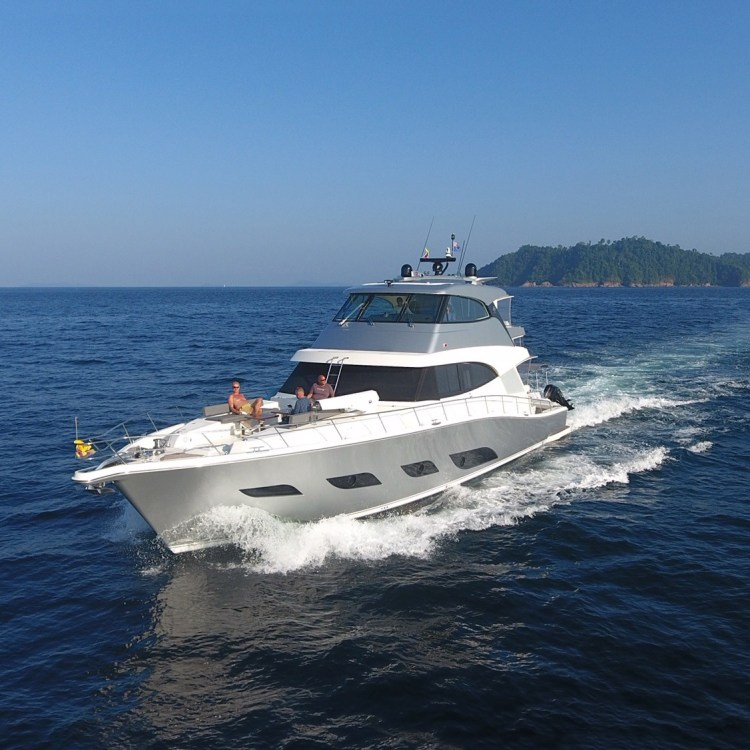 Freedom in South East Asia and Myanmar's restricted waters on a 68 Sports Motor Yacht