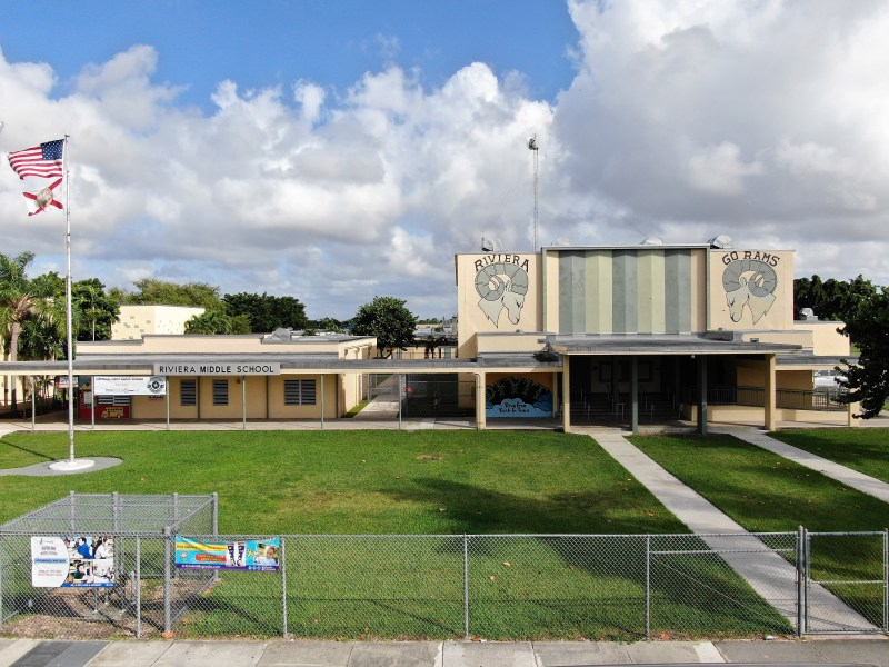 Riviera Middle School Drone Shot