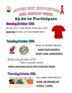 Red Ribbon/United Way Spirit Week
