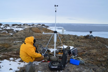 Helping Bob download Kazak island weather data.