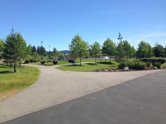 Park and Centennial Trail at edge of Riviera Walk