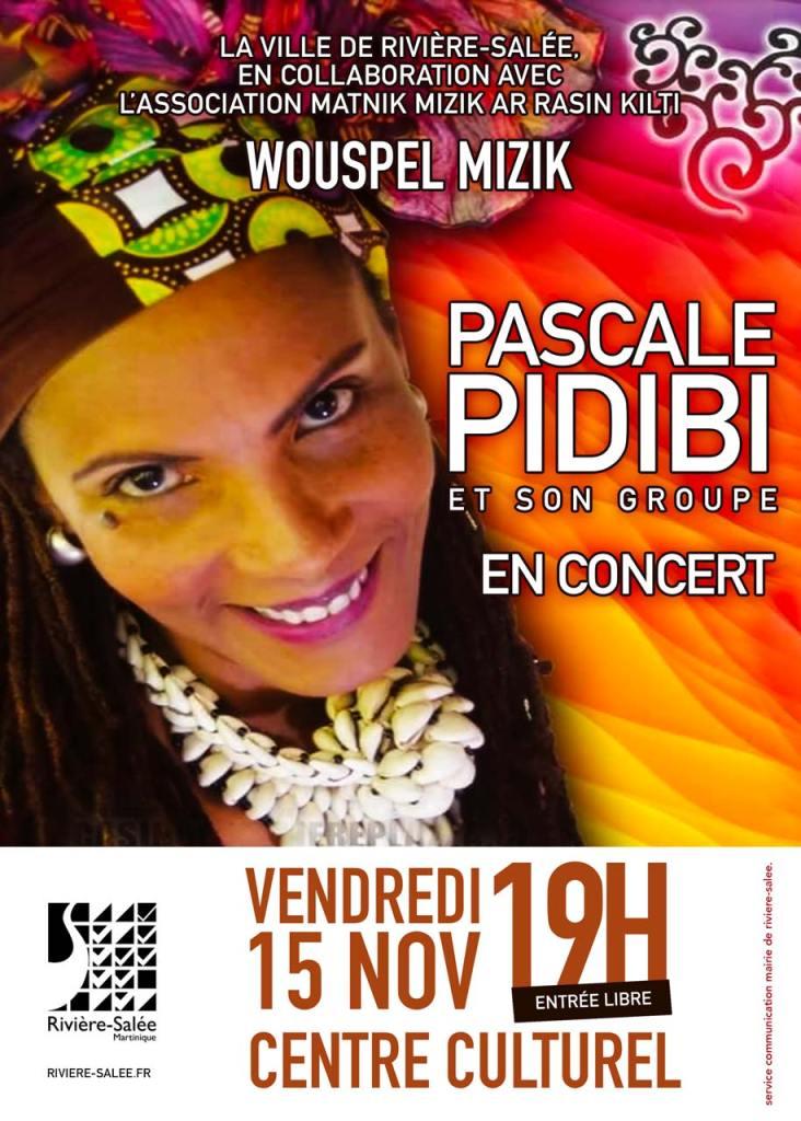 Affiche de Pascale Pidibi en concert à Rivière-Salée