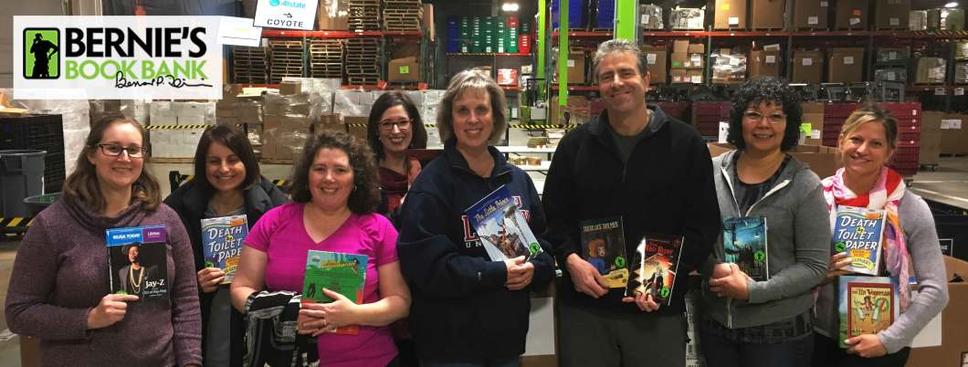 Annual firm volunteer outing at Bernie's Book Bank