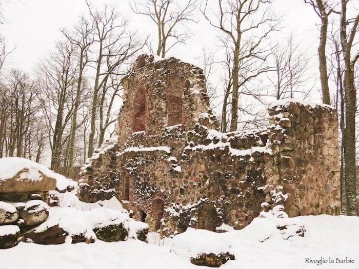 resti del castello di Krimulda