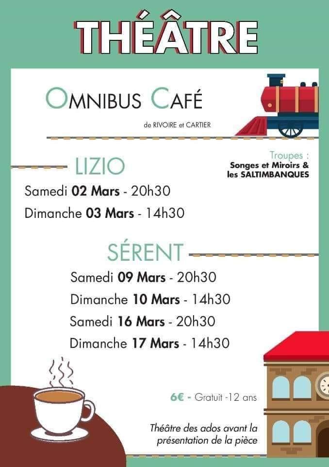 Omnibus Café de Rivoire et Cartier, par Songes et Miroirs et les Saltimbanques