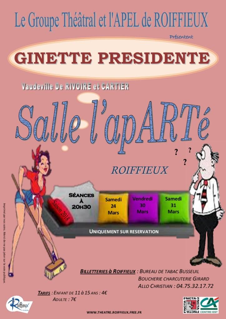 Ginette présidente de Rivoire et Cartier, par le Groupe théâtral de Roiffieux