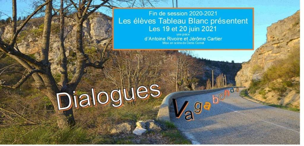 Dialogues vagabonds de Rivoire & Cartier par Tableau Blanc Anderlecht 2021