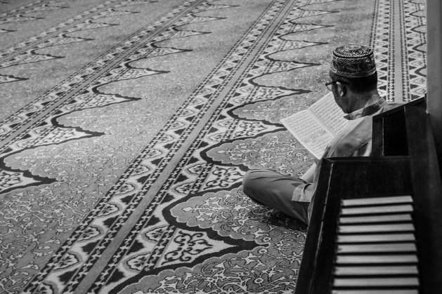 A man reciting Quran