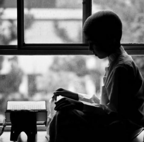 A Muslim kid reciting the Quran