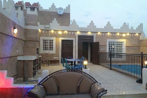 وحدات شاليهات عزايز التراثية  افضل شاليهات شرق الرياض