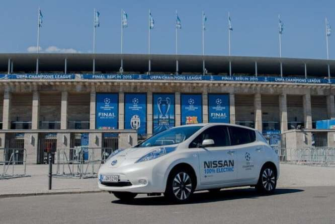 Nissan LEAF - part of the electric vehicle fleet for the UEFA Champions League partners in Berlin during the Final week