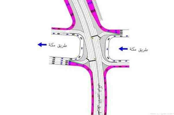 إغلاق جزئي لتقاطع طريق الأمير تركي الأول مع طريق مكة