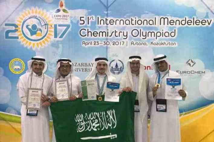 فوز المملكة بميداليتين برونزيتين بأولمبياد المندليف للكيمياء