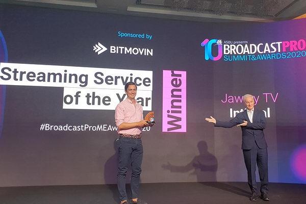 """إنتغرال تفوز بجائزة """"أفضل مزود لخدمات البث لعام 2020"""" عن منصة """"جوّي TV """"من """"برودكاست برو"""""""