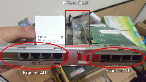 1. Mikrotik RB 44 Ge pada Server
