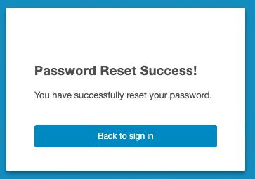 Reset Password Success