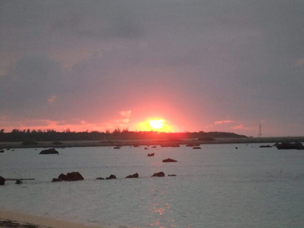 佐和田の浜 夕日