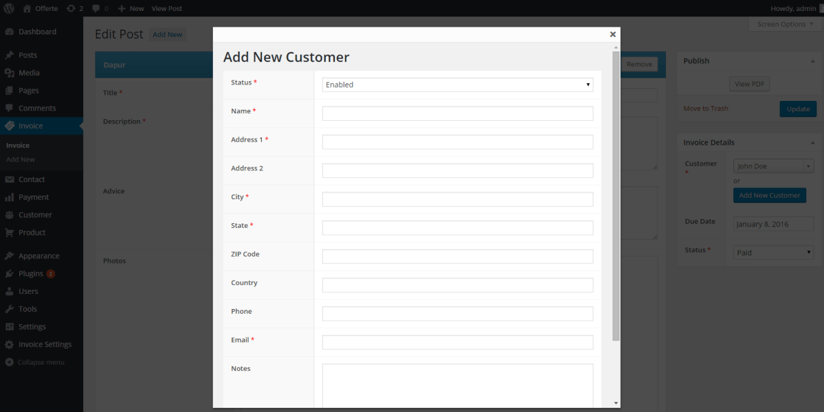 Create A Modal Box on WordPress Dashboard