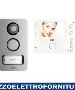 Kit villa 2 fili monofamiliare con videocitofono vivavoce Mìro a colori e pulsantiera Mikra