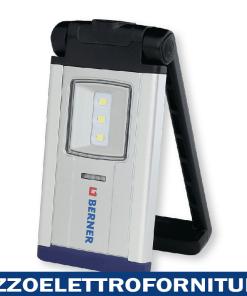 Lampada portatile USB Berner Pocket deLUX SUN con 2 LED Pieghevole Girevole