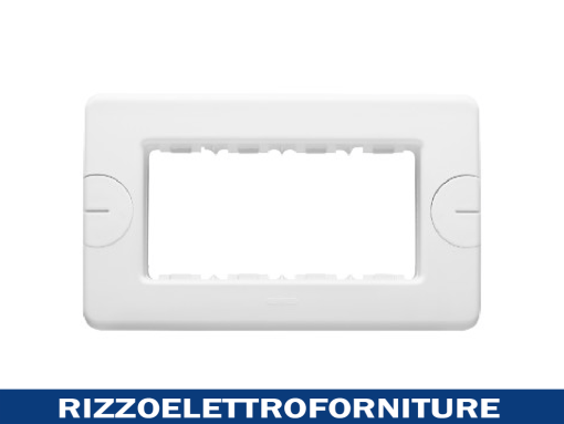 PLACCA 4 POS.BIANCO COMPACT