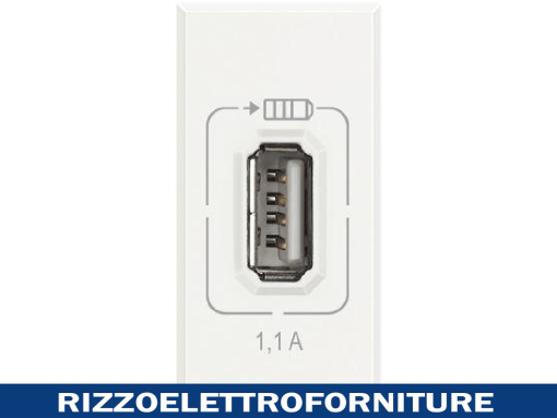 BTICINO Axolute - USB charger 1,1A white