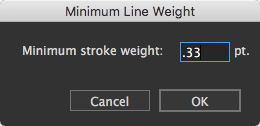 Minimum Line Weight function
