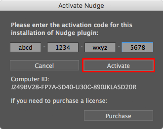 Activation Dialog, Activate button
