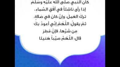 Photo of دعاء المطر الصحيح الذي يقال عند نزول المطر